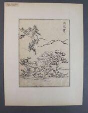 Ooka shunboku (1680-1763 Giappone) - ukiyo-e taglio di legno-paesaggio con casa (63)