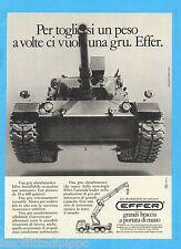 QUATTROR984-PUBBLICITA'/ADVERTISING-1984- EFFER GRU OLEODINAMICHE (versione A)