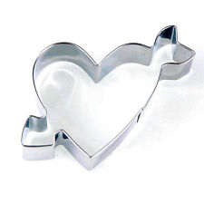 New Heart with Arrow Biscuit Cutter Fondant Cake Baking Mould Decorating Tools