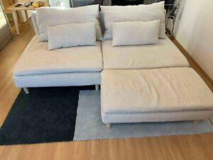 Bemz IKEA Söderhamn 1 Seat + Chaise Lounge Covers (Brera Lino by Designers Guild