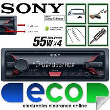 Ford KA 96-08 SONY Mechless MP3 Front USB Aux Car Stereo Radio & Blue Fascia Kit