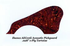 "AEG10ii Pickguard 1-Ply .028"" Tortoise for Ibanez Acoustic Guitar Project NEW"