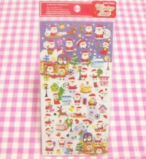 KAMIO JAPAN / Winter Christmas Santa Claus Snowman Reindeer Sticker Sheet  X'mas