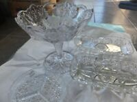 Crystal glasses- collectable set 4 pieces