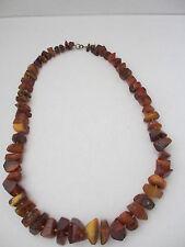 Antique Genuine Natural Baltic Honey Amber Necklace 107 grams