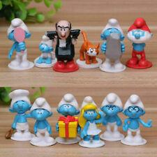 The Smurfs Gargamel Papa Cat 12 PCS Cartoon Action Figure Kids Toy Doll Gift