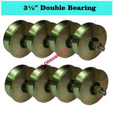 "3 1/2"" V Groove Wheel Rolling Steel Slide Driveway Gates (Double Bearing) Lot 8"