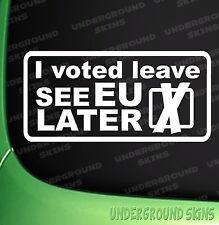 I voted LEAVE - Eu Referendum  Funny Car Sticker Bumper Window Decal