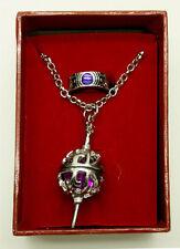 Anime Puella Magi Madoka Magica Finger Ring + Necklace Cosplay Gift Purple Color