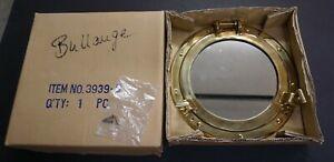 """11"""" POLISHED Brass Porthole Mirror Nautical decor (JAMES Bliss Marine) WITH BOX"""