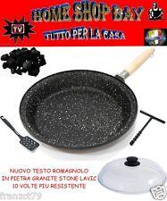 PADELLA TESTO ROMAGNOLO 32CM ALTO + COPERCHIO NEW  IN PIETRA GRANIT STONE LAVIC