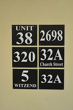 Black house plaque / sign number & house / street name 3mm foamex, HOLED DRILLED