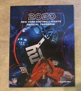 2020 New York Giants Official NFL Football Yearbook NEW shipped in a box