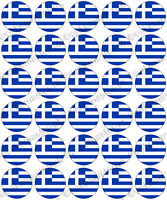 30 x Greek Flags Edible Rice Wafer Paper Cupcake Toppers - Greece
