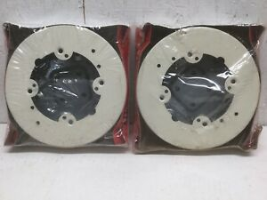 """Wiremold V5738A Fixed Box Solid Base 5 1/2"""" Diameter Ivory (Lot of 2)"""
