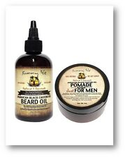 Sunny Isle Jamaican Black Castor Oil Beard Oil & Men's Pomade Bundle