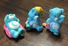 "(3) Cute Rare Vintage 1980's Care Bears ""Bedtime Bear"" 2""Collectible Figures EVC"