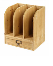 Wood Filing Unit Paper Storage Organiser With Drawer