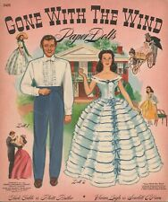 Vntge Uncut 1940 Gone Wind Paper Dolls~Merrill~Org Sz~Lasr Reproduction No. 1 Sl