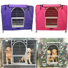 Pet Crate + Waterproof Cover : Puppy Dog Cat Rabbit Metal Cage House Kennel Home