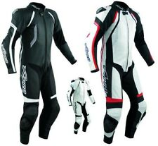 Motorcycle Biker Full Body one pc Perforated Leather Race Suit 1 PC A-Pro