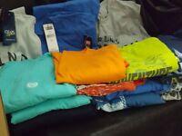Chaps T-Shirt Men Blue Orange Gray Cotton Size S M  XL 2X  3X 4X    New w/Tag