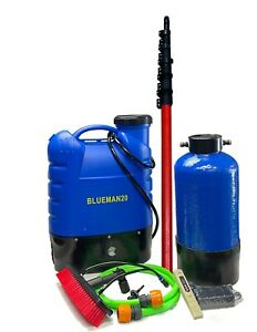 Complete Water Fed Window Cleaning System - Backpack- Pure water - Ready to use