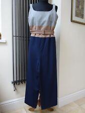 Designer Alysi Jumpsuit Overall Trousers Work Casual Grey Beige Navy Wool UK 12