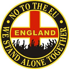"ENGLAND CAR STICKER  ""NO TO THE EU""  Brexit, UKIP - Also for laptops, tablets..."