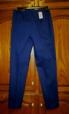 NWT BROOKS BROTHERS BLUE SIDE ZIP PANT SZ 4 M.S.R.P $148 MATERIAL WOVEN IN ITALY