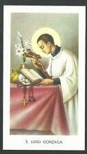 estampa de San Luis Gonzaga santino holy card image pieuse