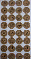 Christmas Stickers Embellishments for cards/ crafts/ scrapbooking/ cork