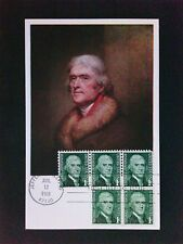 USA MK 1968 THOMAS JEFFERSON MAXIMUMKARTE CARTE MAXIMUM CARD MC CM c9511