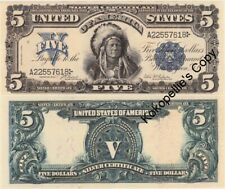 1899* Reproduction $5 Dollar US Silver Certificate* Free Shipping *