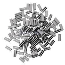Doppelfass Klemmhülsen 100% Messing Kupferrohrverbinder 100 Stücke 1.8mm