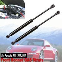 2x For 1999-2005 Porsche 911 Front Hood Bonnet Gas Charged Struts Lift Supports