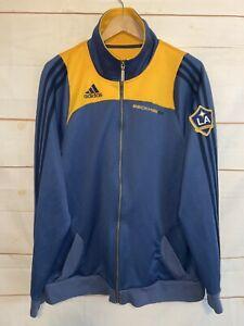 Men's ADIDAS LA Los Angeles Galaxy Beckham Track Jacket Soccer MLS Blue Large Lg
