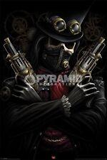 Spiral Steampunk Bandit POSTER 61x91cm NEW * pistols skeleton gothic fantasy