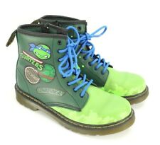 Dr. Martens Boots Teenage Mutant Ninja Turtles Boys Youth Size 3 TMNT Shoes RARE
