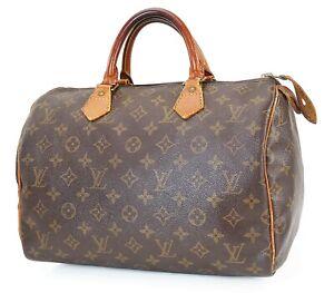 Authentic LOUIS VUITTON Speedy 30 Monogram Boston Handbag Purse #40081
