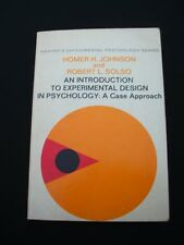 An Introduction to Experimental Design in Psychology, Homer Johnson/Robert Solso