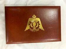 RARE Hashemite Kingdom of Jordan Huguenin Le Locle Medal/Coin Box 1977 PORTRAIT