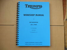 TRIUMPH T120,TR6,6T 650  UNIT FACTORY WORKSHOP MANUAL 1963-1970 MODELS
