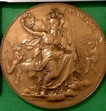 Medaille en bronze chaplain  femme H  D