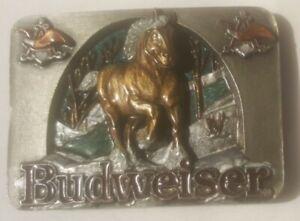Vintage Buckle Gürtelschliesse/ Budweiser  /  Bergamot / USA  1990