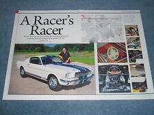 """1965 Shelby GT 350 Article """"A Racer's Racer"""" Bobby Rahal GT350"""