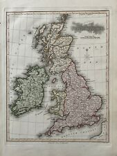 1813 BRITISH ISLES ORIGINAL ANTIQUE HAND COLOURED MAP BY SAMUEL NEELE