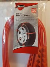 Auto drive Winter Tire Straps (10 ct) for Temporary traction and Getting unstuck