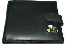 John Deere Tractor Wallet Leather Black/Dark Brown Gift Boxed Enamel Men's money