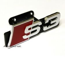 New S3 Grill Badge Emblem Decal Sticker Logo Sign Front A3 RS3 RS S Grille Audi